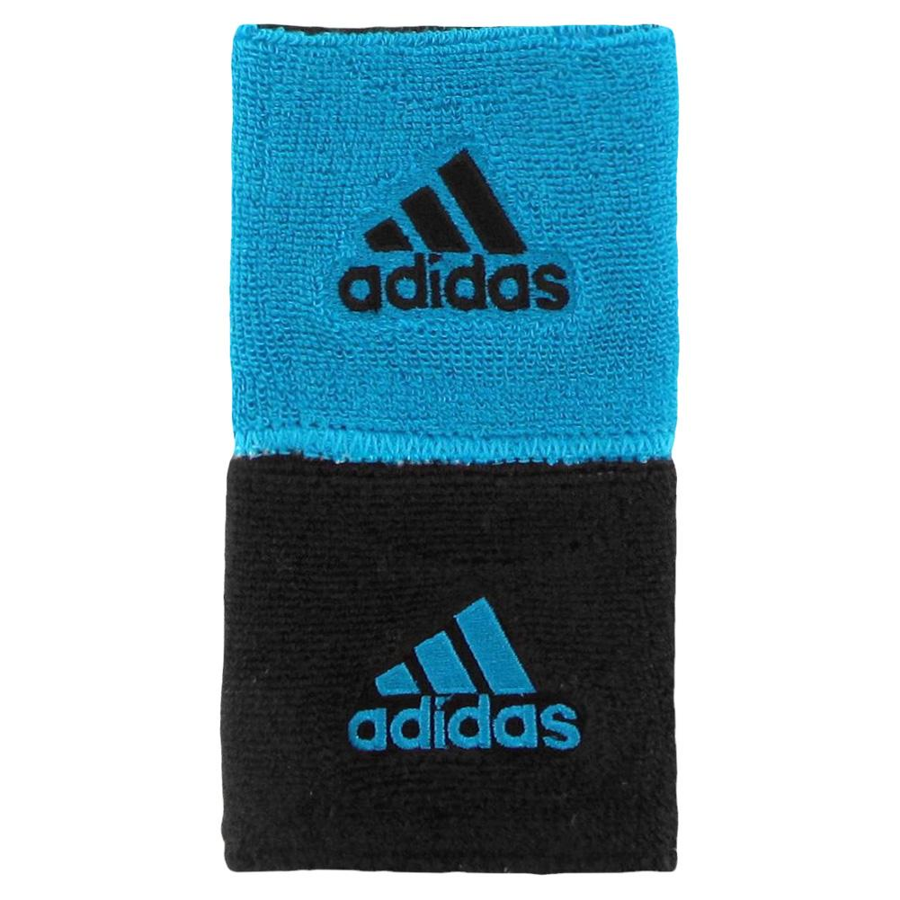 Interval Reversible Tennis Wristband Solar Blue And Black