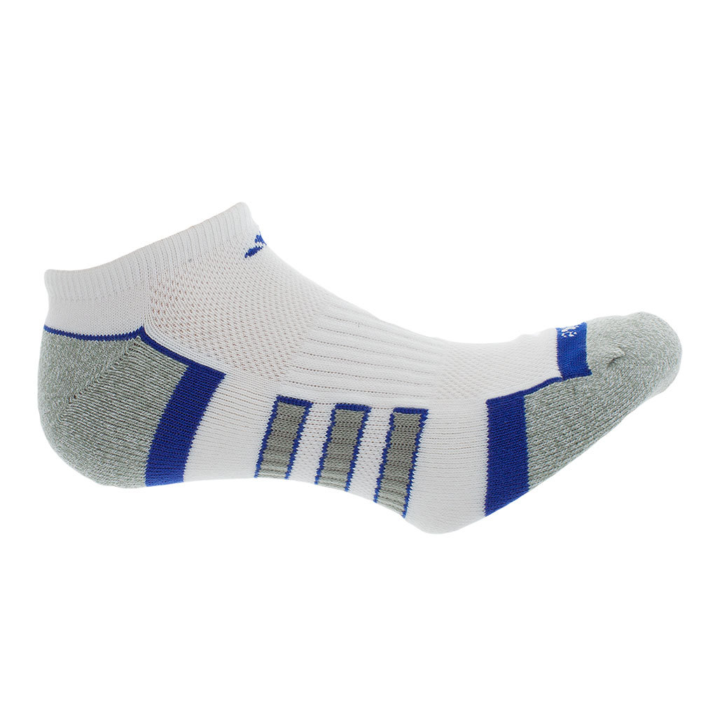Men's Climalite Ii No Show 2 Pack Socks White And Bold Blue Shoe Sizes 6- 12