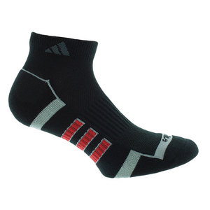 Men`s Climalite II Low Cut 2 Pack Socks Black and Light Onyx shoe sizes 6-12