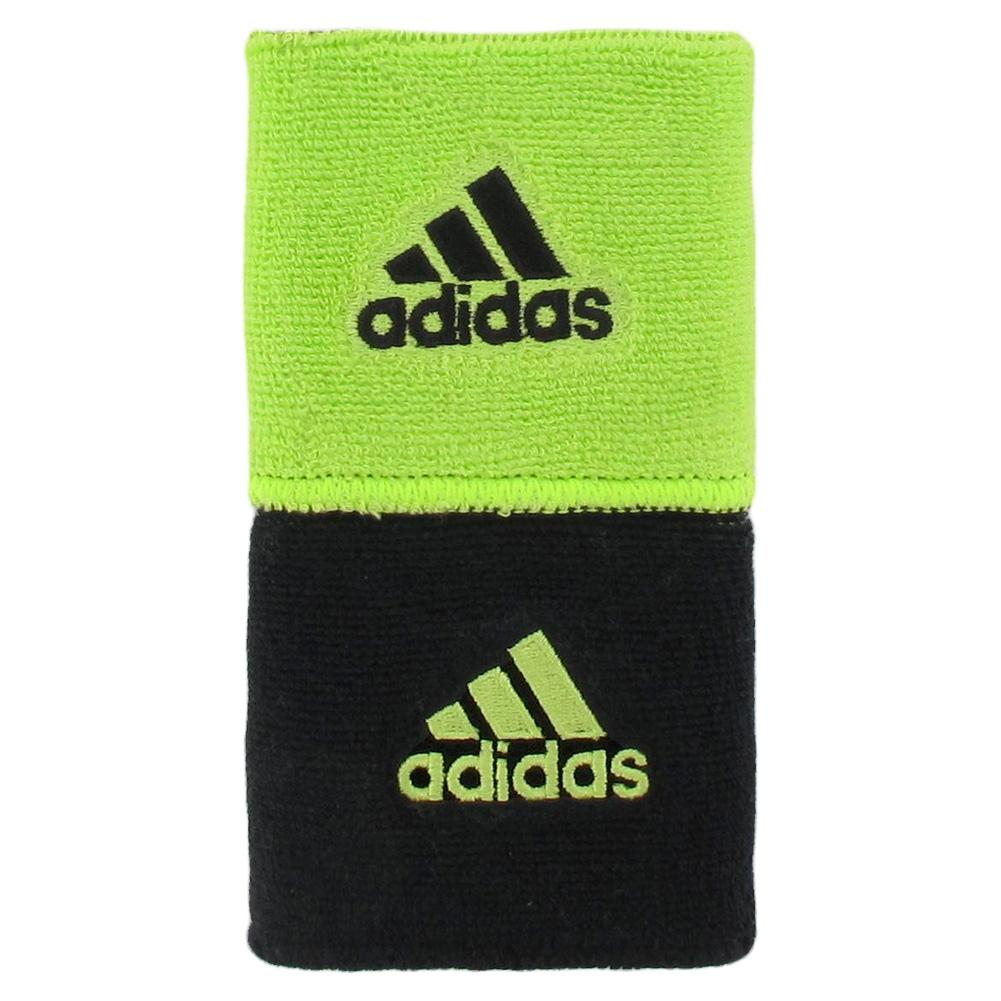 Interval Reversible Tennis Wristband Slime And Black