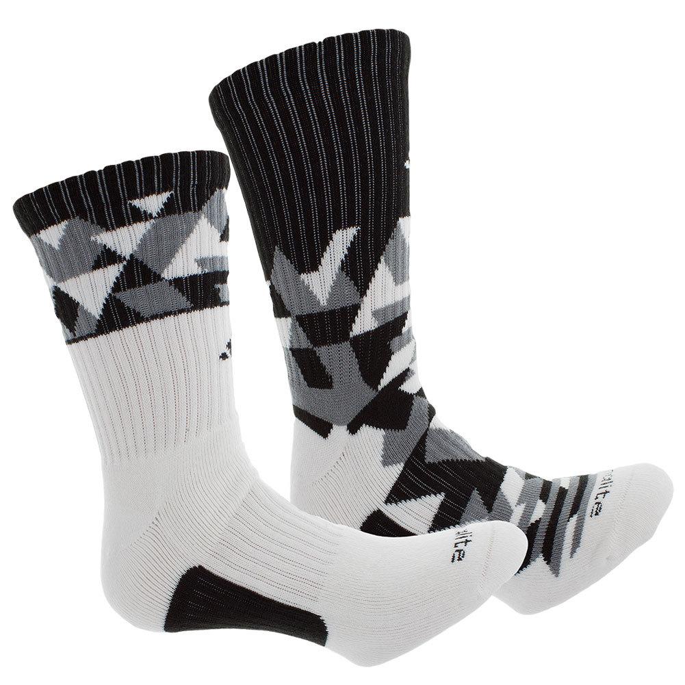 Men`s Energy Camo Crew Socks 2 Pack White and Black shoe sizes 6-12