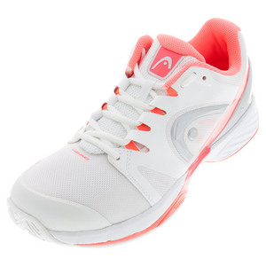 Women`s Nitro Pro Tennis Shoes White and Neon Coral