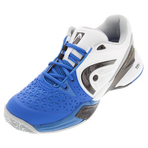 Men`s Revolt Pro Tennis Shoes Blue and White