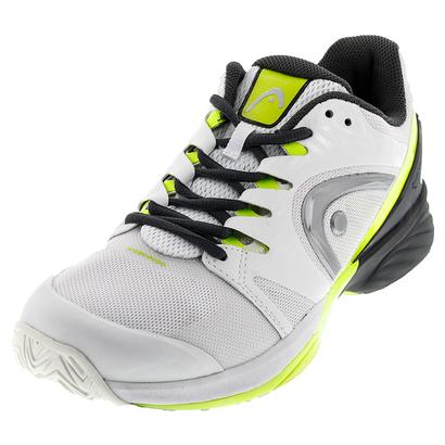 Men`s Nitro Pro Tennis Shoes White and Neon Yellow