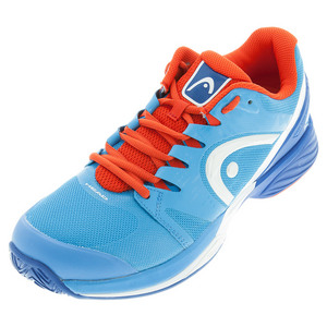 Men`s Nitro Pro Tennis Shoes Blue and Flame