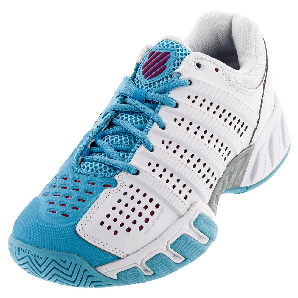 Juniors ` Bigshot Light 2.5 Tennis Shoes White And Bachelor Button