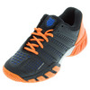 K-SWISS Juniors` BigShot Light 2.5 Tennis Shoes Black and Vibrant Orange