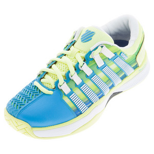Women`s HyperCourt Tennis Shoes Vivid Blue and Sunny Lime