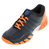 Men`s BigShot Light 2.5 Tennis Shoes Black and Vibrant Orange by K-SWISS