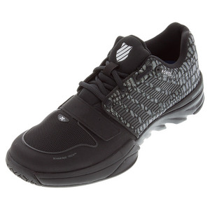 K-SWISS MENS X COURT TENNIS SHOES BLK/JUNGLE