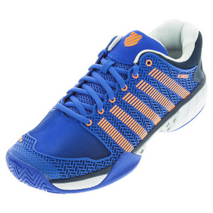 Men`s HyperCourt Express Tennis Shoes Electric Blue and Dress Blue
