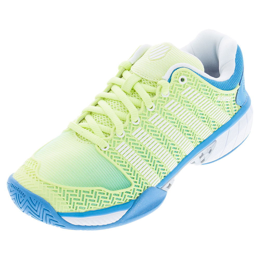 Women's Hypercourt Express Tennis Shoes Sunny Lime And Vivid Blue