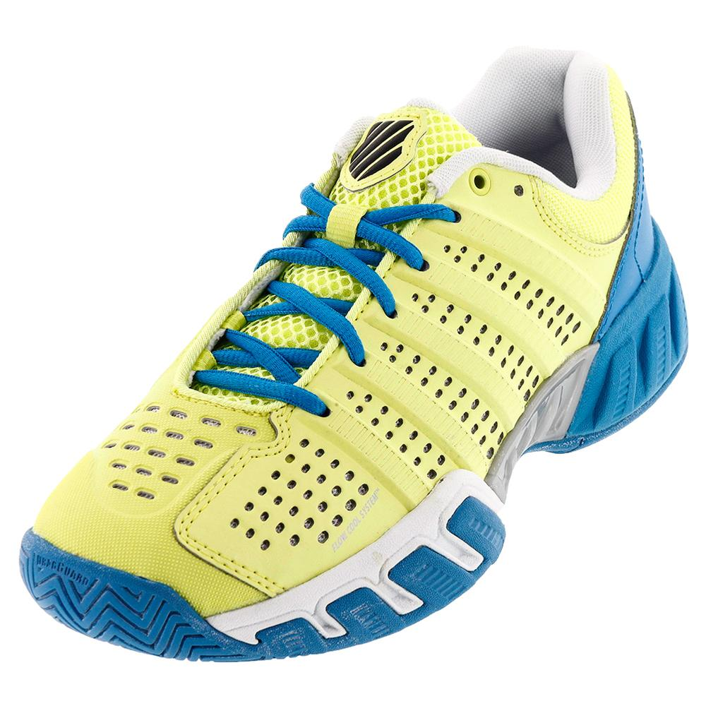 Juniors ` Bigshot Light 2.5 Tennis Shoes Sunny Lime And Vivid Blue