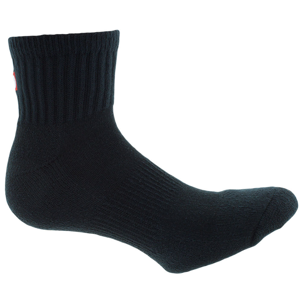 Men's Comfort Fit Quarter Tennis Socks Black