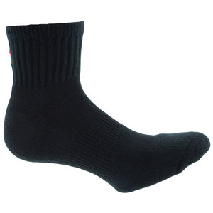 Men`s Comfort Fit Quarter Tennis Socks Black