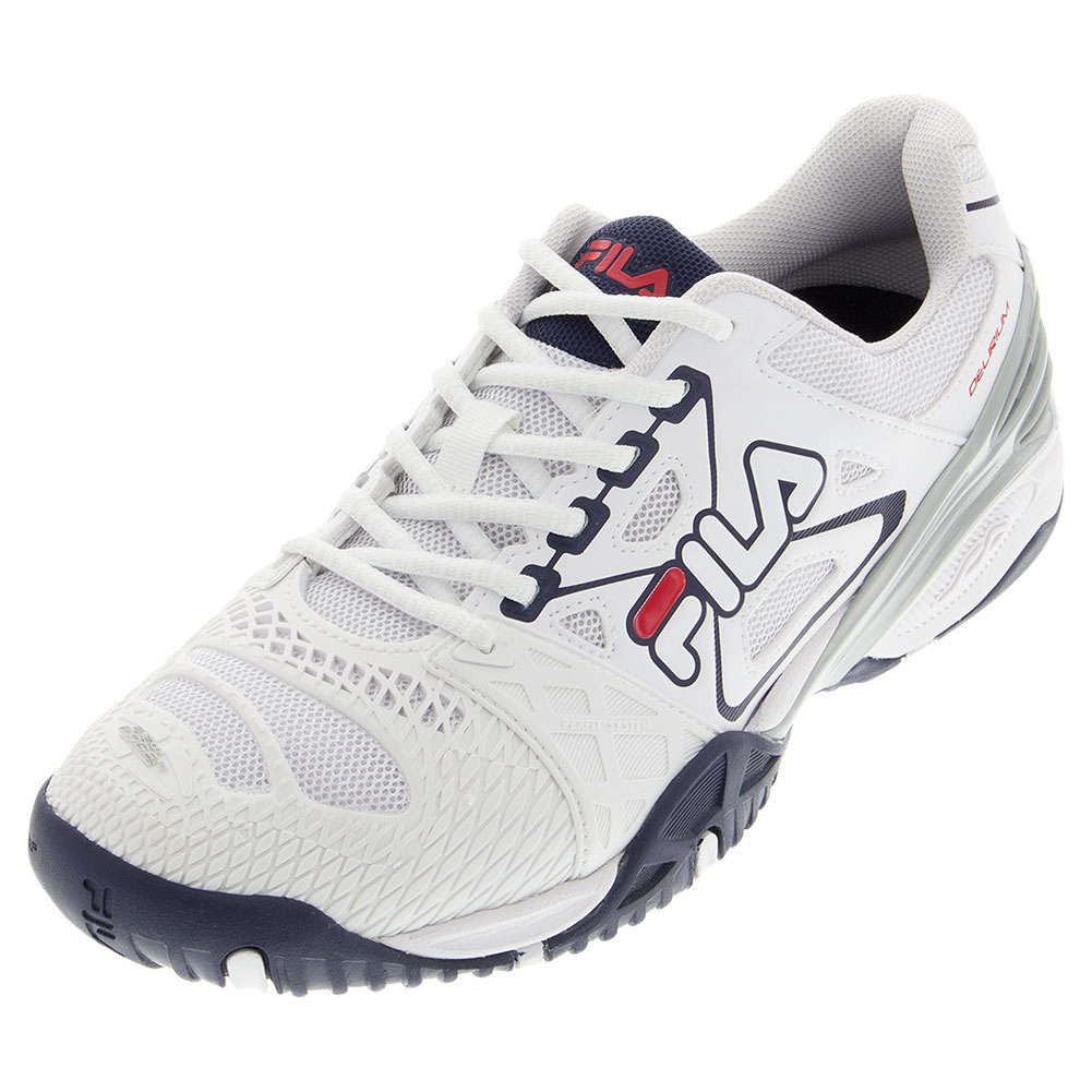 Men's Cage Delirium Tennis Shoes White And Fila Navy