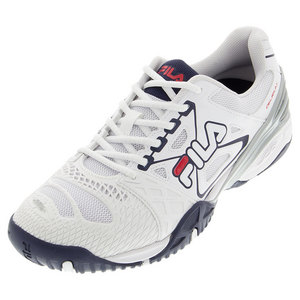 Men`s Cage Delirium Tennis Shoes White and Fila Navy