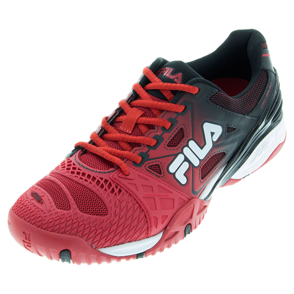 Men's Cage Delirium Tennis Shoes Fila Red And Black