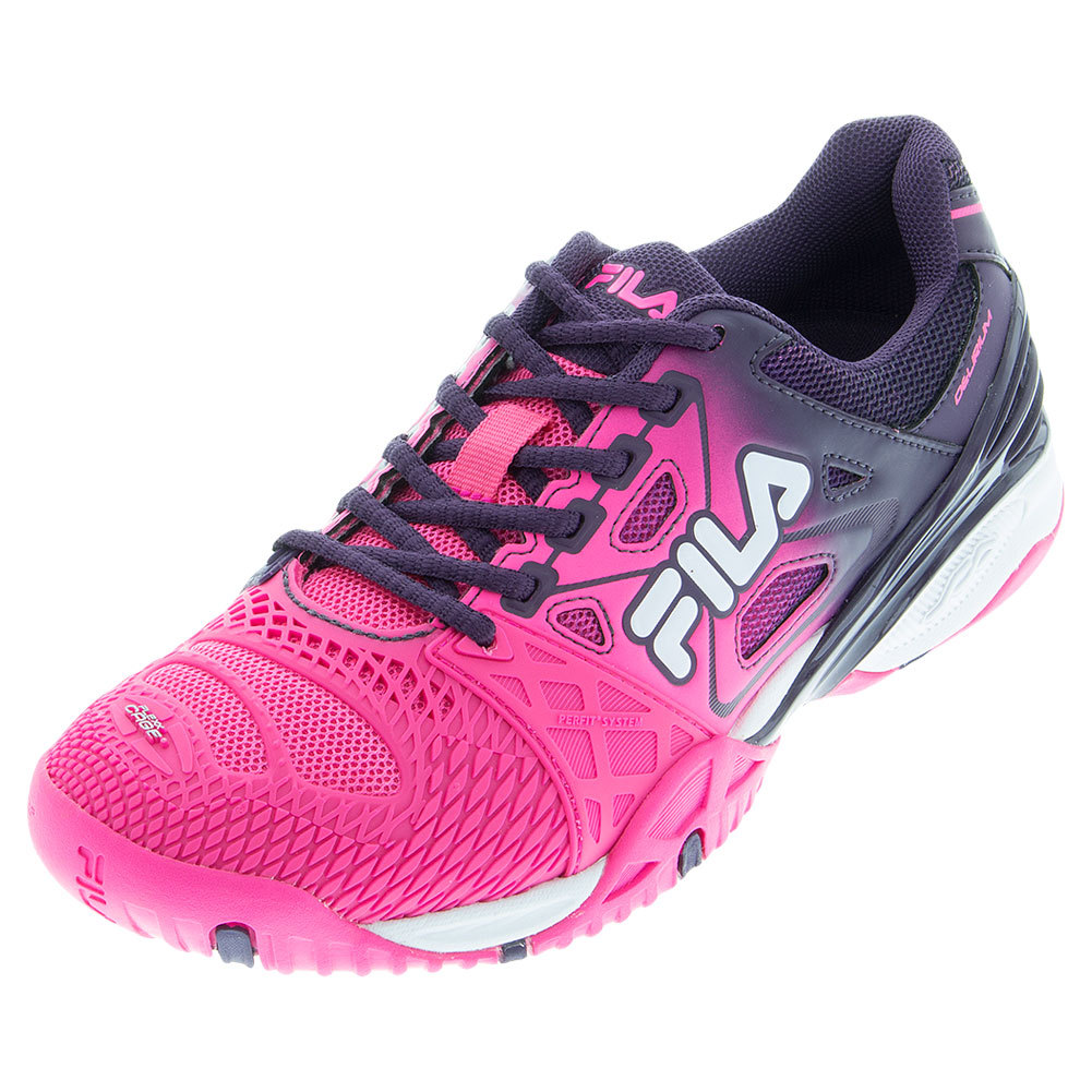 FILA Women`s Cage Delirium Tennis Shoes Knockout Pink and Purple Pennant