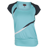 BOLLE Women`s Bayside Cap Sleeve Tennis Top Aqua and Graphite
