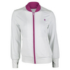 K-SWISS Women`s Warm Up Tennis Jacket White and Berry