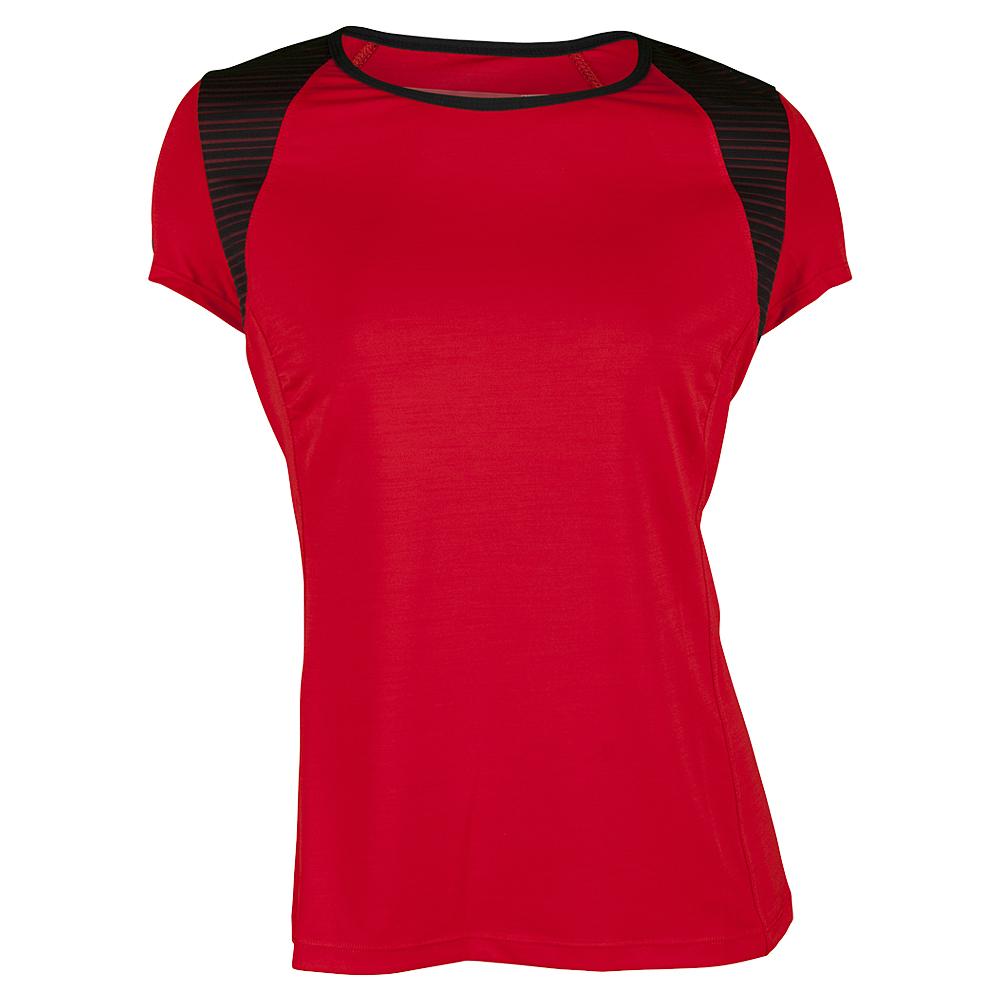 Women's Alivia Cap Sleeve Tennis Top Allure Red