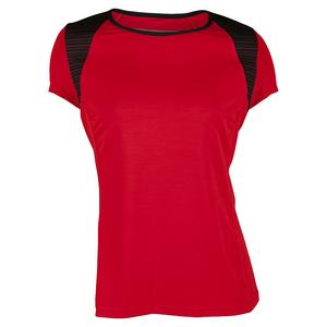 Women`s Alivia Cap Sleeve Tennis Top Allure Red