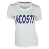 LACOSTE Women`s Short Sleeve Bold Logo Graphic Tee White