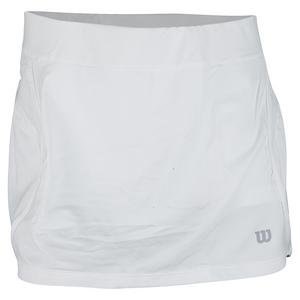 WILSON WOMENS SPORTY 12.5 INCH TNS SKORT WHITE