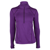 WILSON Women`s nVision Zip Neck Long Sleeve Tennis Top Plumberry