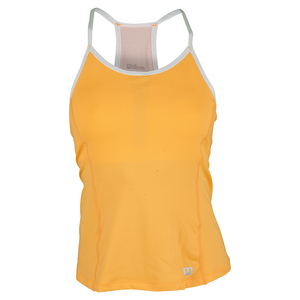 WILSON WOMENS STRAPPY TENNIS TANK ORANGE POP