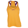 WILSON Women`s Mesh Boyfriend Tennis Tank Orange Pop and Plumberry