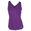 WILSON Women`s Striated Wrap Tennis Tank Dark Plumberry