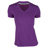 WILSON Women`s Striated Cap Sleeve Tennis Top Dark Plumberry