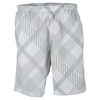 WILSON Boys` Rush Plaid 8 Inch Tennis Short White and Slate Gray