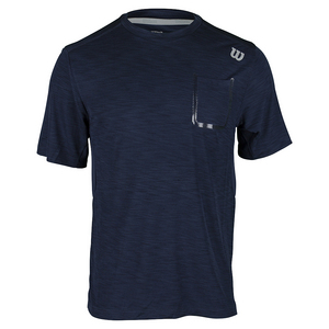 Men`s Textured Tennis Crew Navy