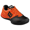 WILSON Juniors` Rush Pro Glide Tennis Shoes Black and Tomato Red