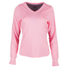 BOLLE Women`s My Fair Lady Long Sleeve Tennis Top Neon Pink