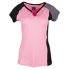 BOLLE Women`s My Fair Lady Cap Sleeve Tennis Top Neon Pink