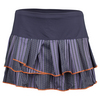 LUCKY IN LOVE Women`s Striped Pleated Tier Tennis Skort Concord
