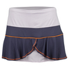 LUCKY IN LOVE Women`s Colorblock Flounce Tennis Skort Concord and Lavender