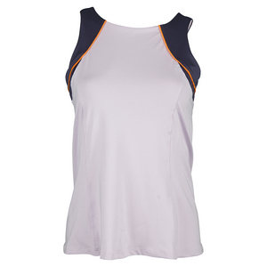 LUCKY IN LOVE WOMENS HIGH NECK COLORBLOCK TNS TANK LAV