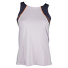 LUCKY IN LOVE Women`s High Neck Colorblock Tennis Tank Lavender