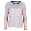 LUCKY IN LOVE Women`s Long Sleeve Layer Tennis Crop Top Lavender
