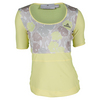 ADIDAS Women`s Stella McCartney Roland Garros Tennis Tee Fresh Yellow