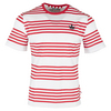 Men`s Printed Stripe Court Tennis Tee 005_BOAST_RED