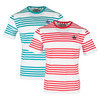 BOAST Men`s Printed Stripe Court Tennis Tee