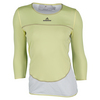 ADIDAS Women`s Stella McCartney 3/4 Sleeve Tennis Tee Fresh Yellow and White