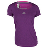Women`s Climachill Tennis Tee Chill Shock Pink by ADIDAS