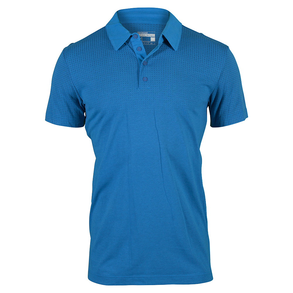 Men`s Aeroknit Climacool Tennis Polo Melange EQT Blue